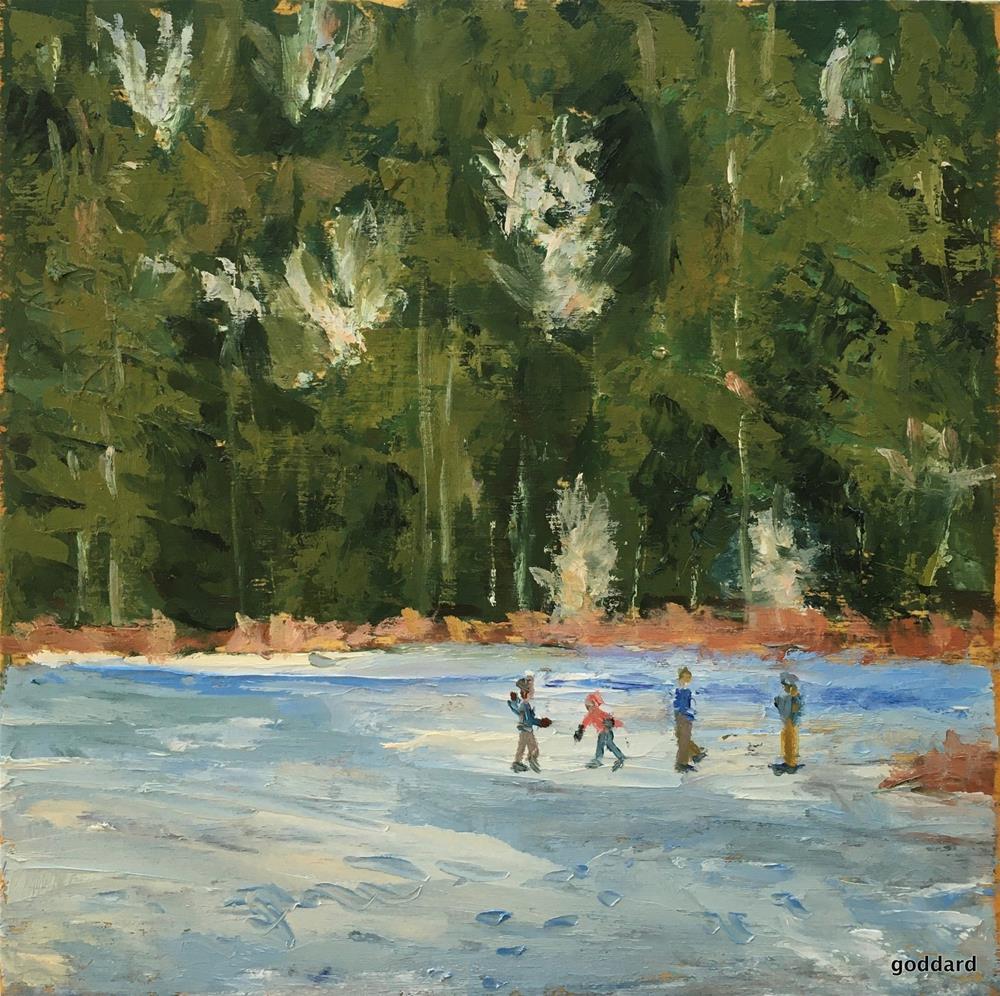 """Dancing with Winter"" original fine art by Shari Goddard Shambaugh"