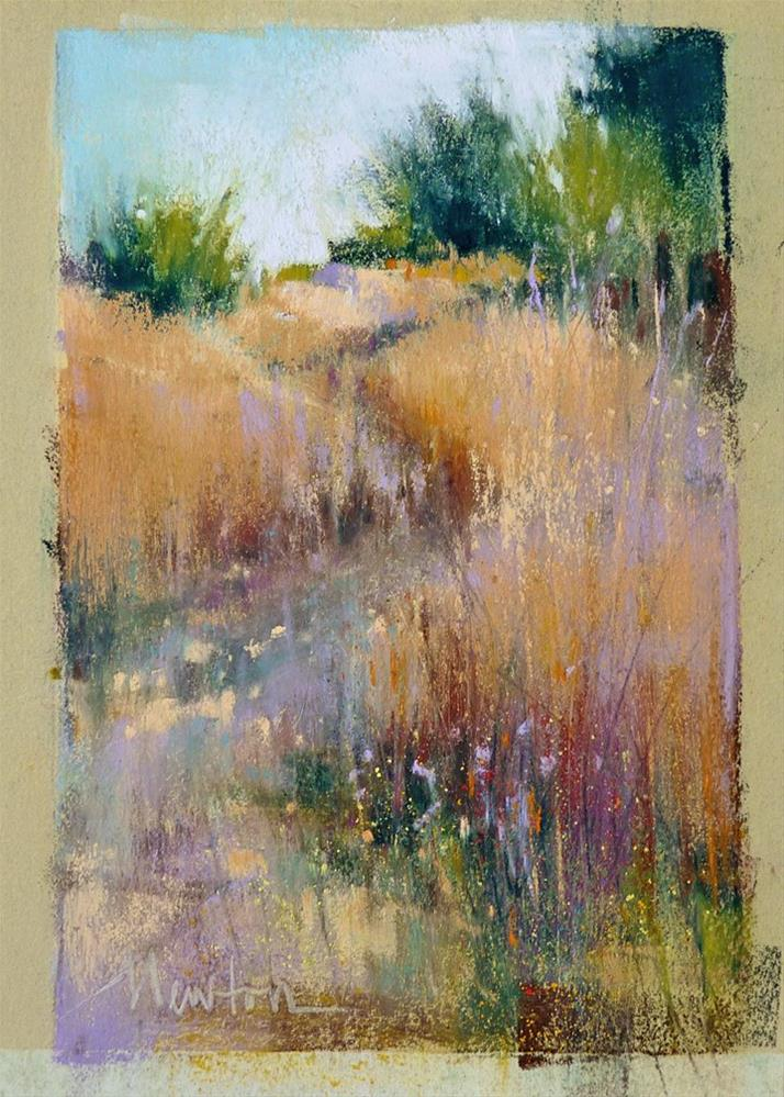 """Rainbow Hill"" original fine art by Barbara Benedetti Newton"