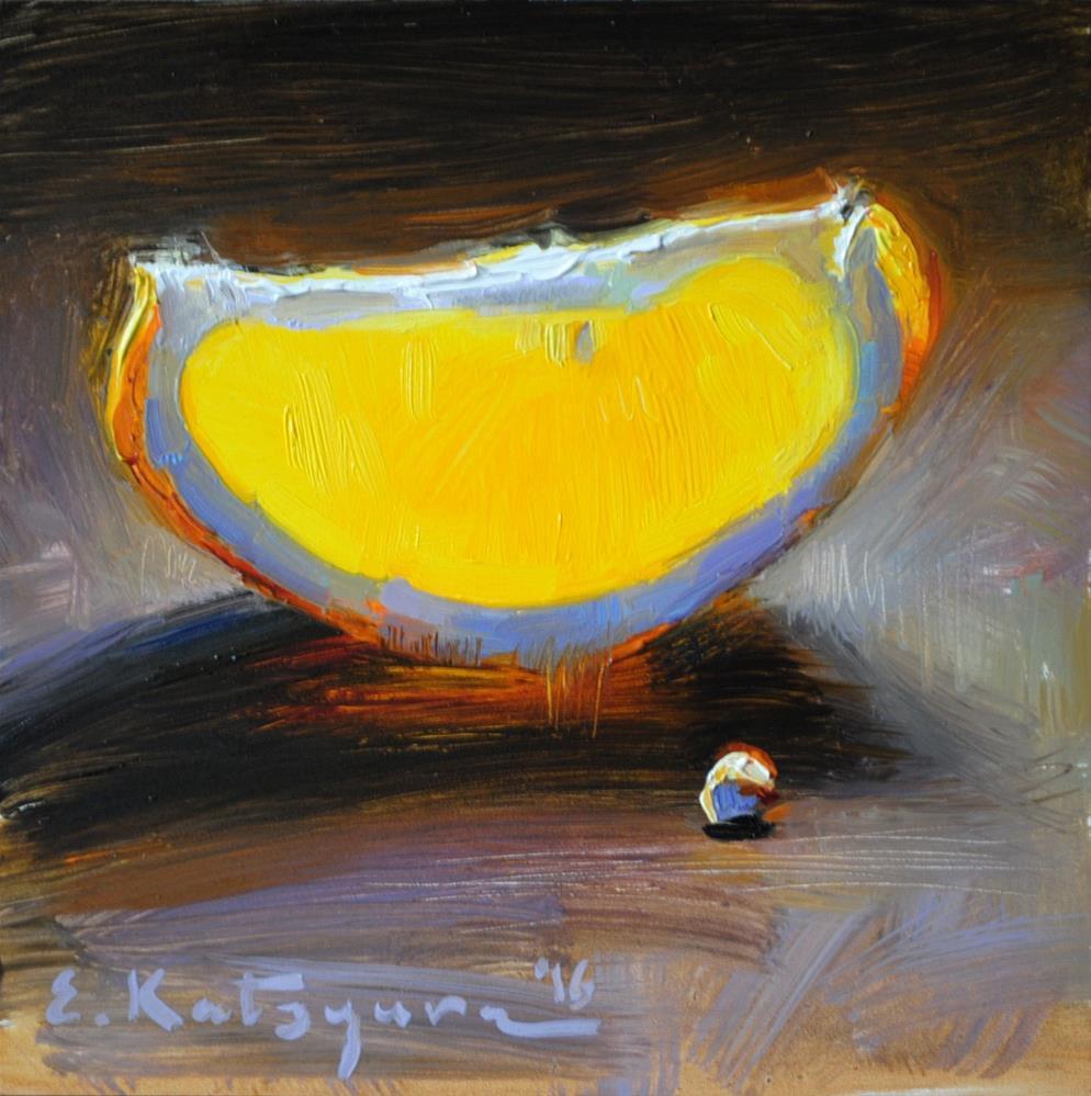"""Golden Slice"" original fine art by Elena Katsyura"