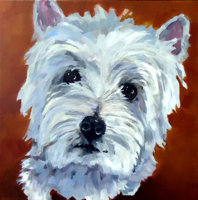 """Brewster"" original fine art by Laurie Mueller"