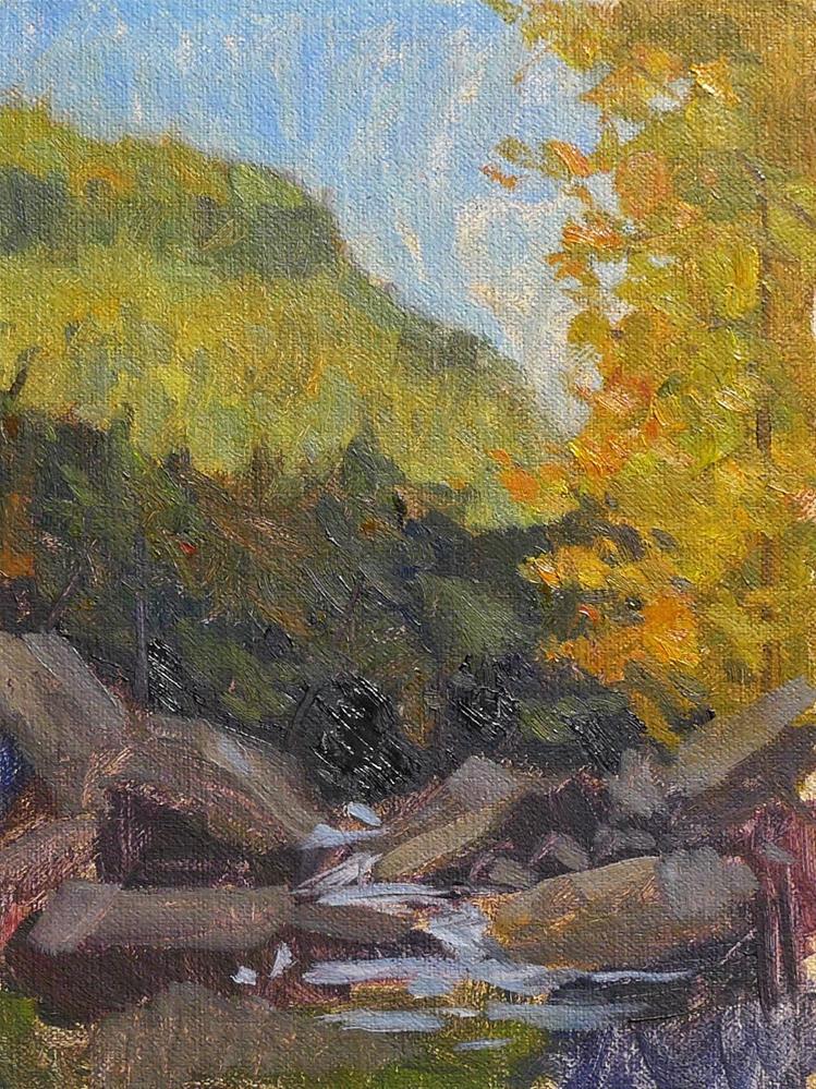 """Low Fall Sun"" original fine art by Adam Houston"
