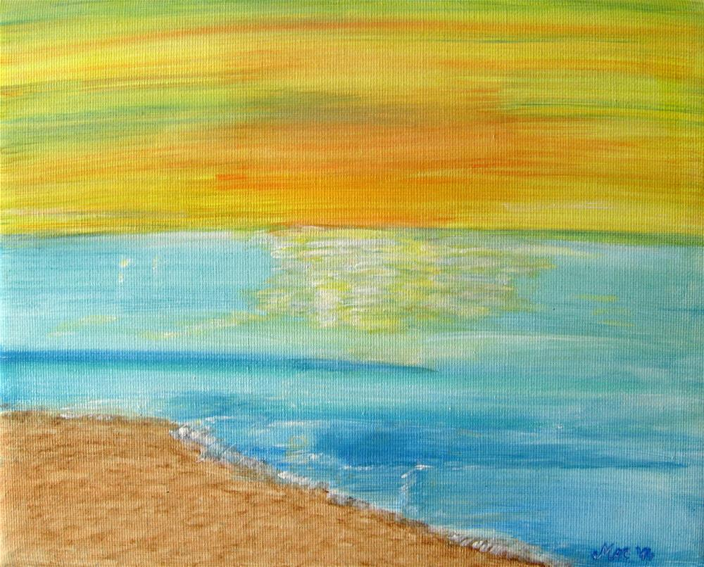 """Calm Sea"" original fine art by Alina Frent"