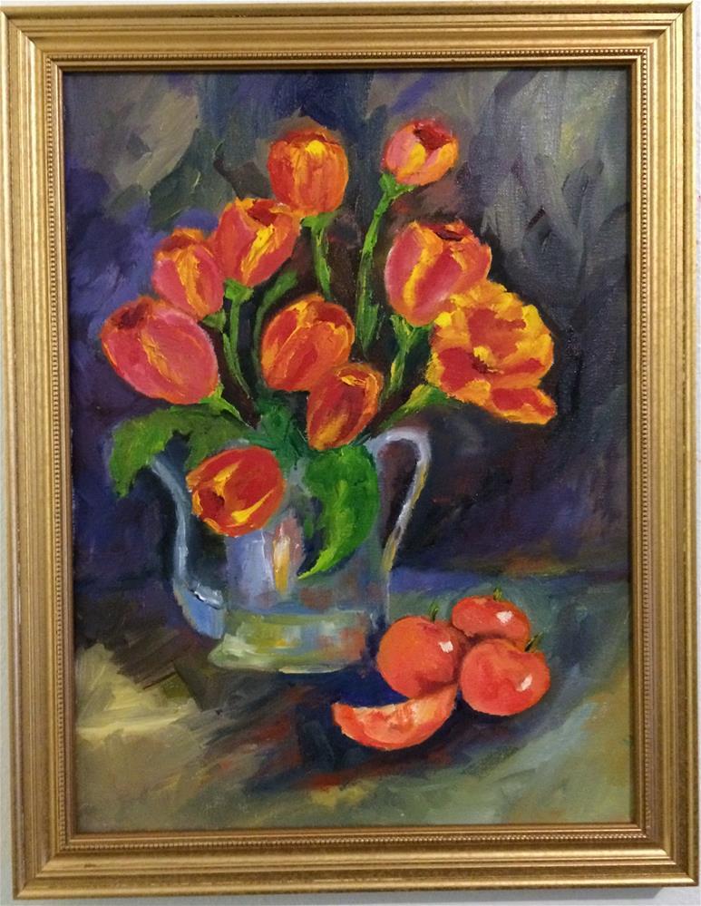 """Tulip Bonanza"" original fine art by Ramya Sarveshwar"