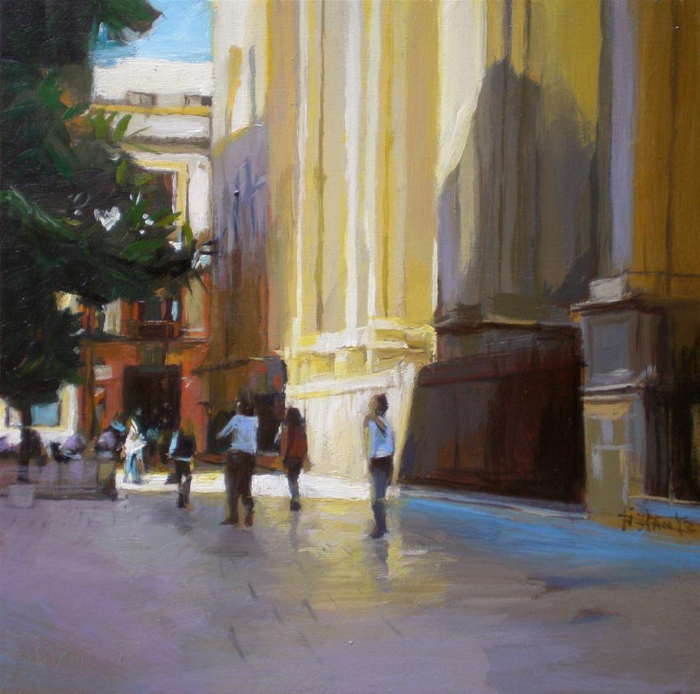 """""""Lighted cathedral"""" original fine art by Víctor Tristante"""