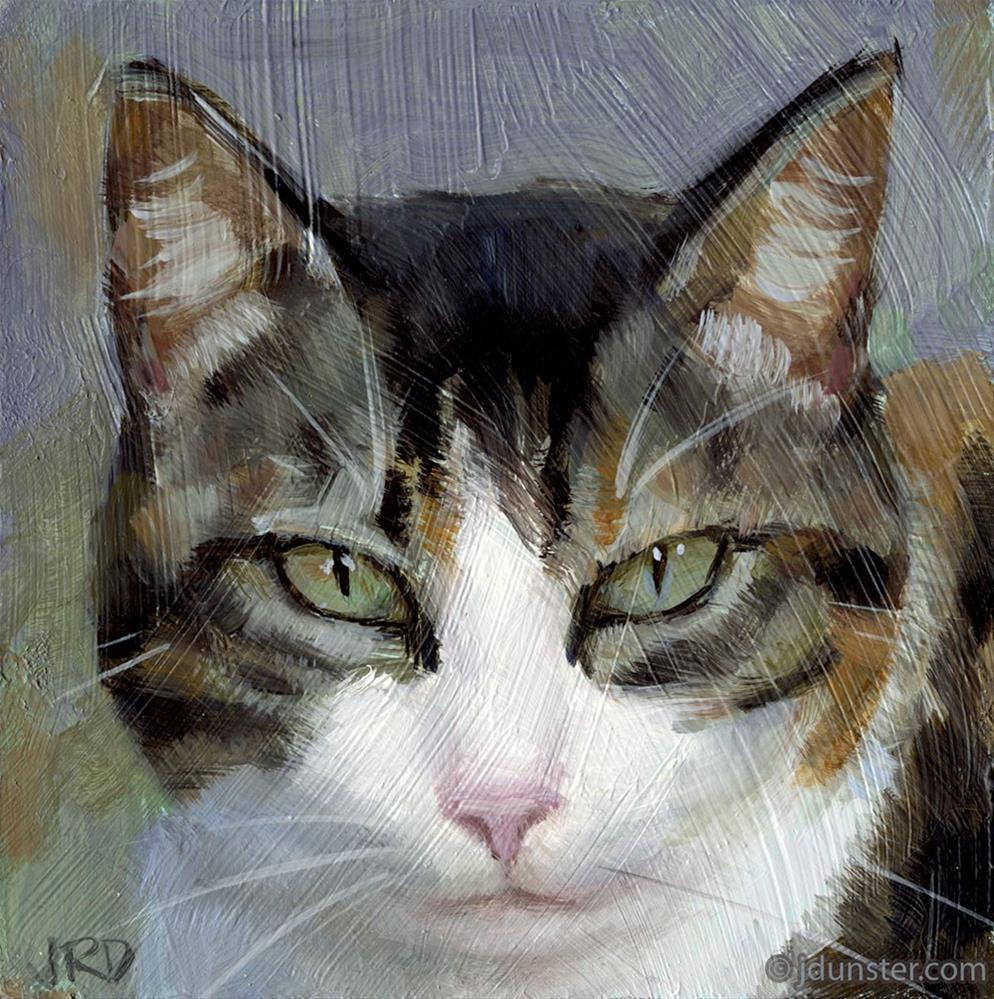 """Dilute Calico"" original fine art by J. Dunster"