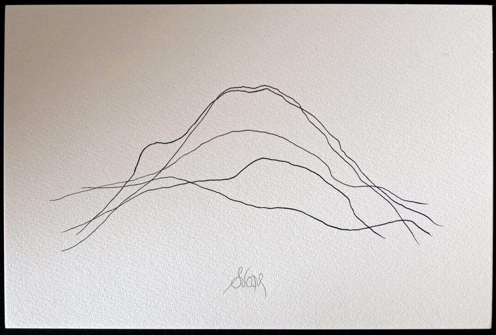 """MOUNTAIN CROSSES RIVER"" original fine art by Craig Svare"