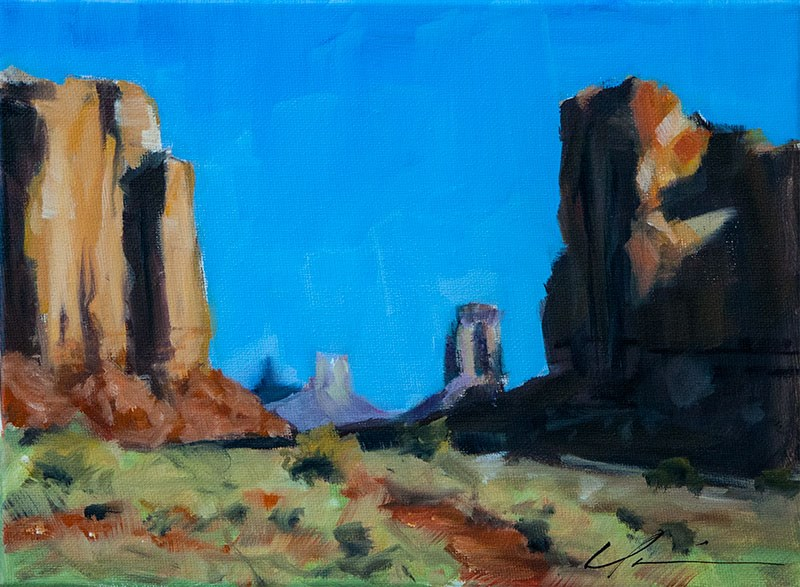 """""""Landscape Challenge #10"""" original fine art by Clair Hartmann"""