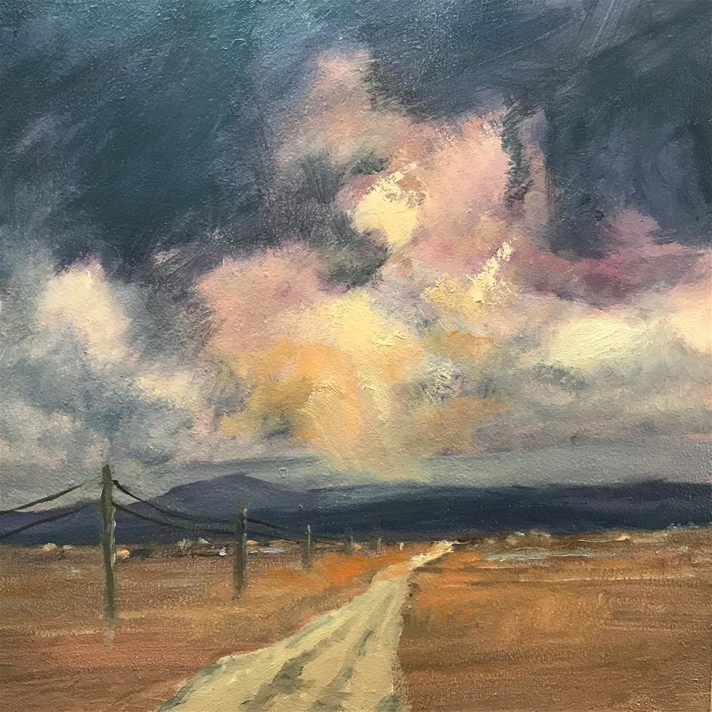 """long lonely road"" original fine art by Betty Argiros"