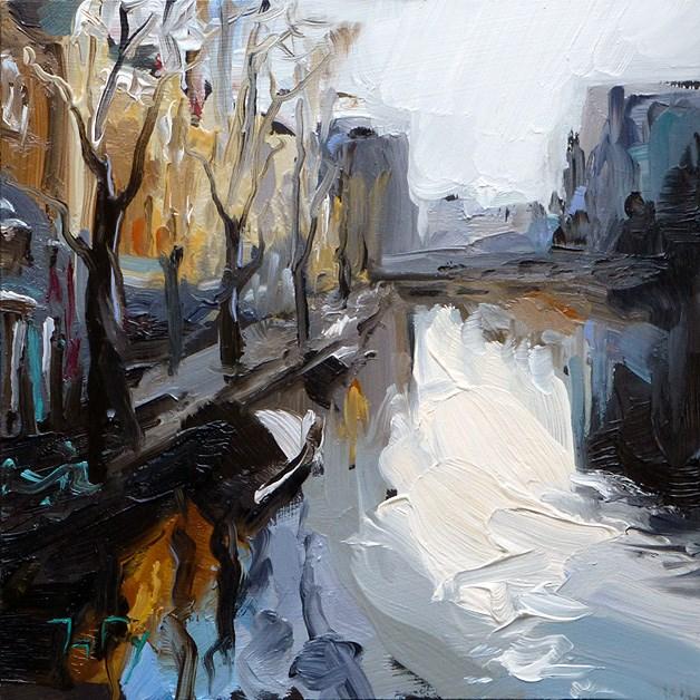 """Streets of Amsterdam"" original fine art by Jurij Frey"