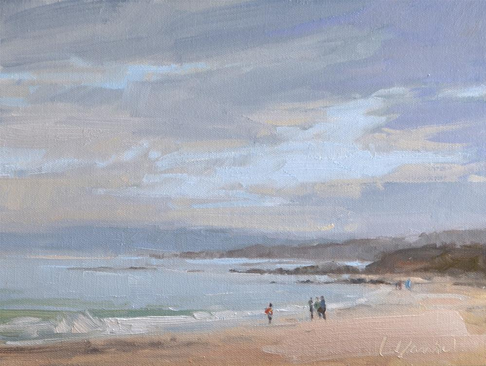 """Foggy Coastline - And Happy Thanksgiving!!"" original fine art by Laurel Daniel"