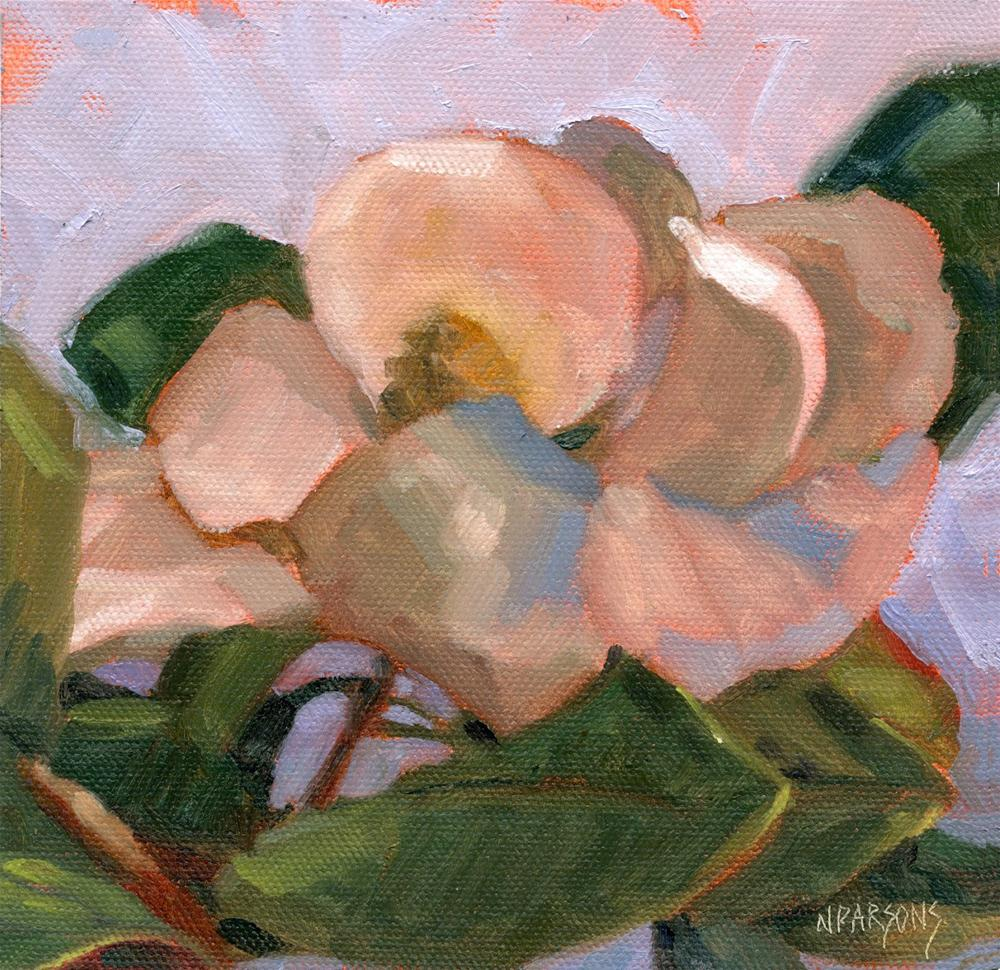 """Magnolia Memory"" original fine art by Nancy Parsons"
