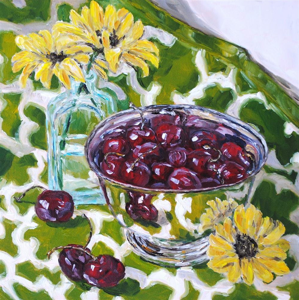"""Yellow Daisies"" original fine art by Alison Kolkebeck"