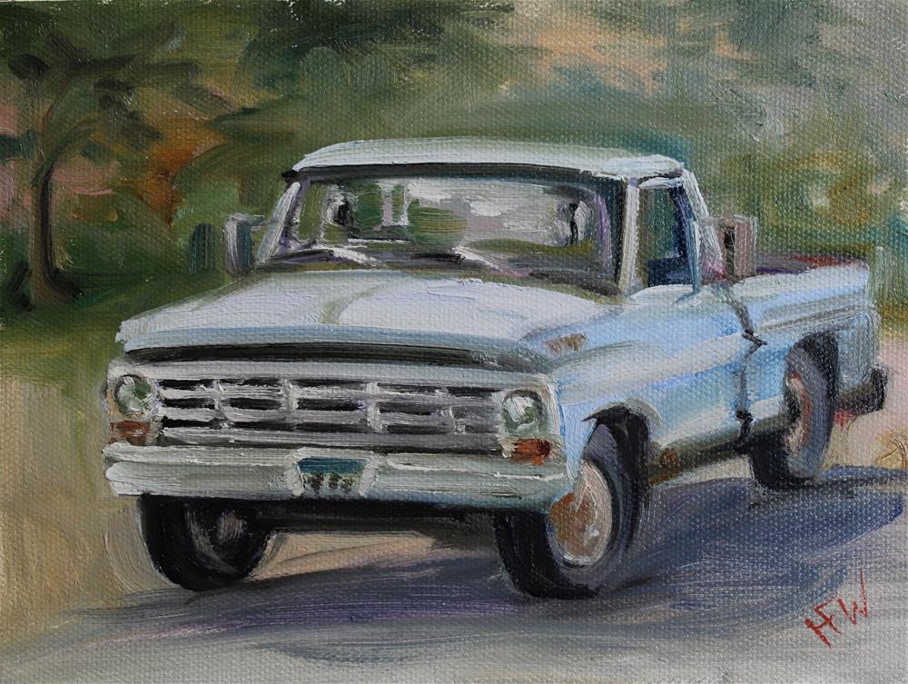 """1970's Ford"" original fine art by H.F. Wallen"