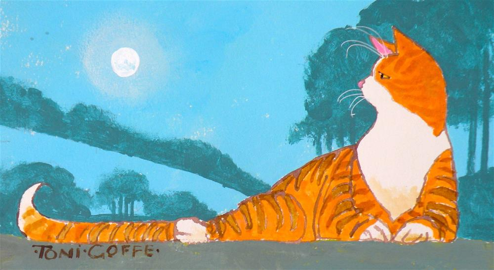 """""""Is that a balloon I see before me?"""" original fine art by Toni Goffe"""