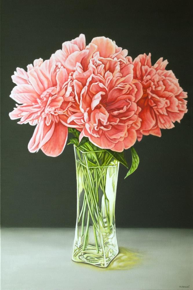 """Peonies in a Vase"" original fine art by Margaret Horvat"