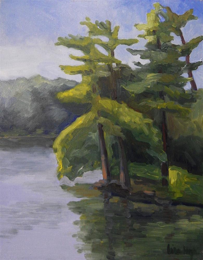 """Loch Raven Reservoir"" original fine art by Lisa Kyle"
