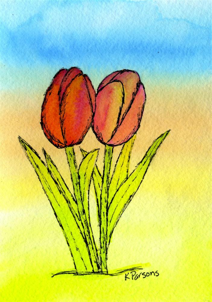 """Twolips"" original fine art by Kali Parsons"