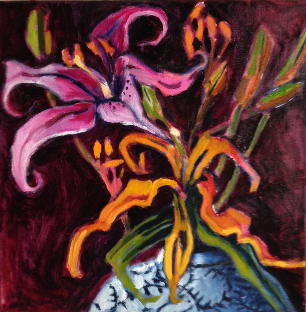 """The Eucharist"" original fine art by Pamela Hoffmeister"