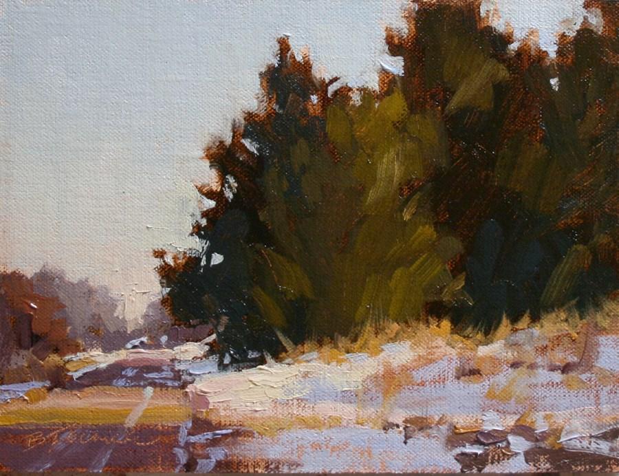 """Aspen Road Study"" original fine art by Barbara Jaenicke"