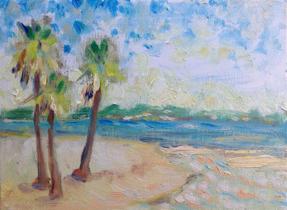 """By the Bay"" original fine art by Virginia Fergus"