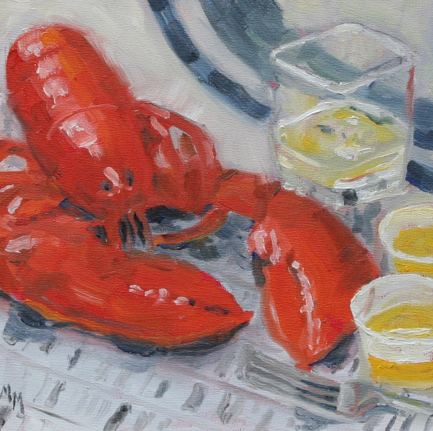 """Lobster"" original fine art by Maria McNitt"