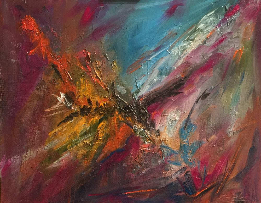 """A new day"" original fine art by Hoda Nicholas"