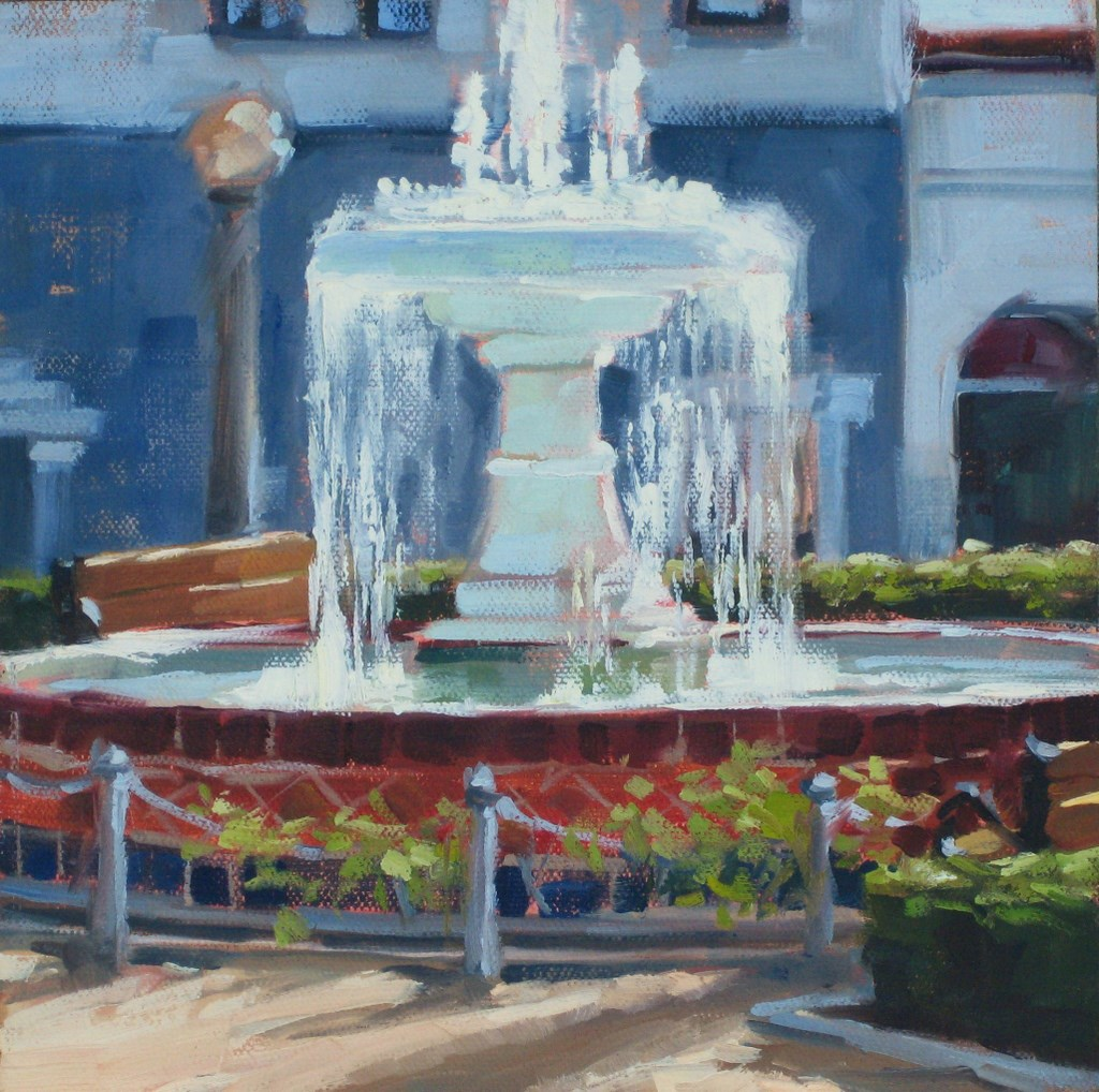 """The Fountain"" original fine art by Karen Werner"