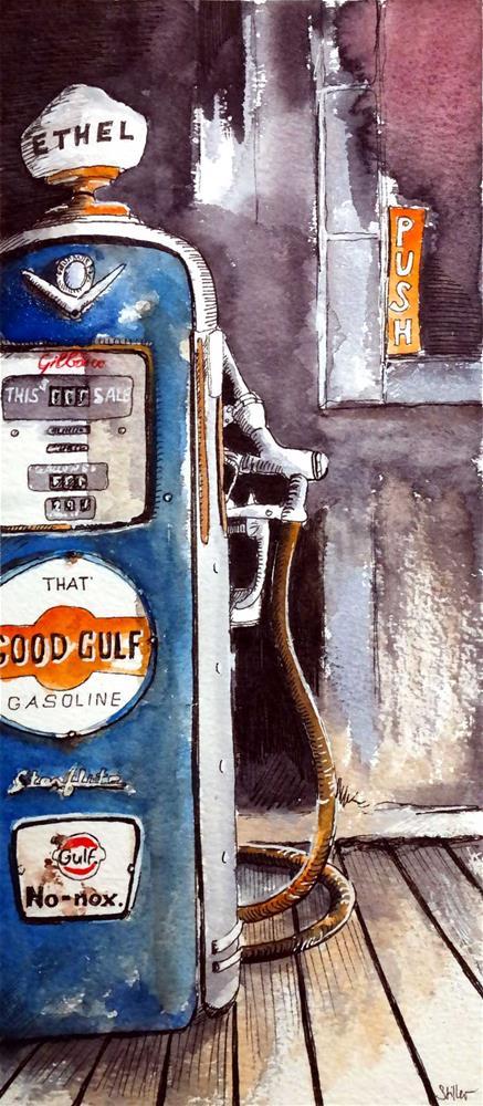 """3078 ETHEL"" original fine art by Dietmar Stiller"