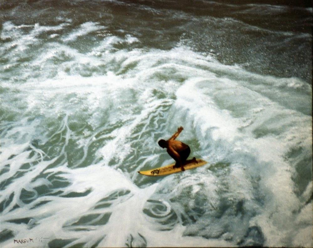 """Hawaiian Surfer"" original fine art by John Marcum"
