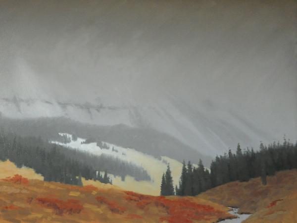 """Light in the Storm"" original fine art by Susan Matteson"
