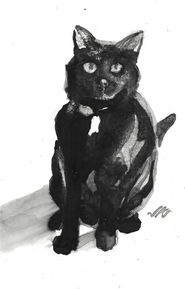 """Daily Cat 114"" original fine art by Jean Krueger"