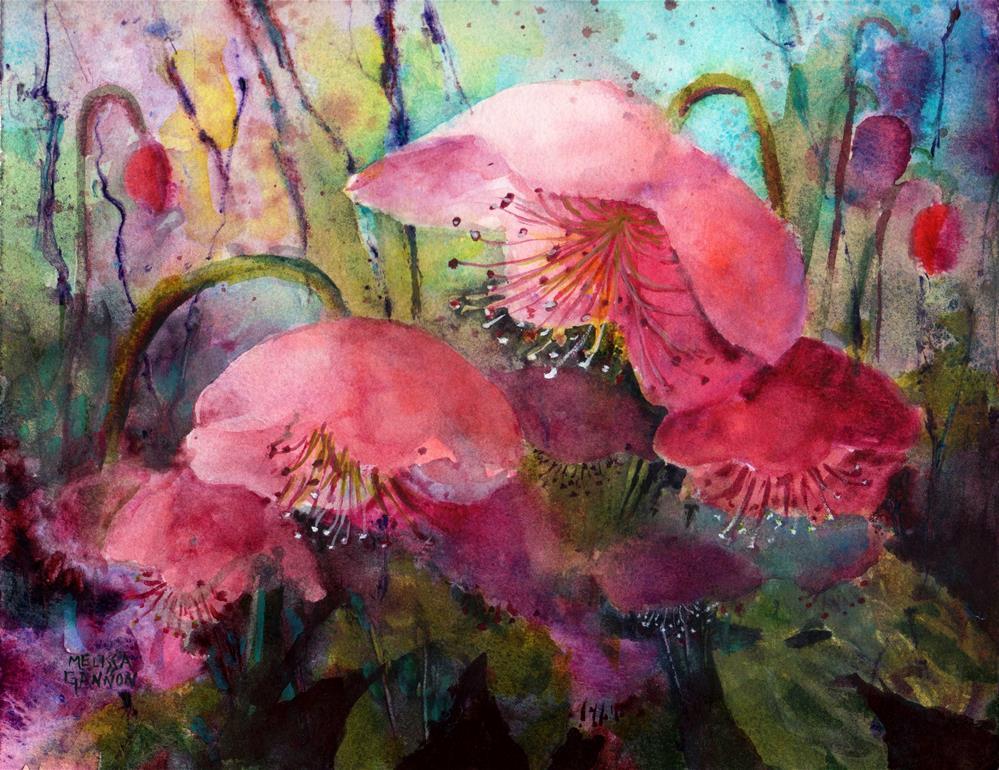 """Hellebores Dancing"" original fine art by Melissa Gannon"