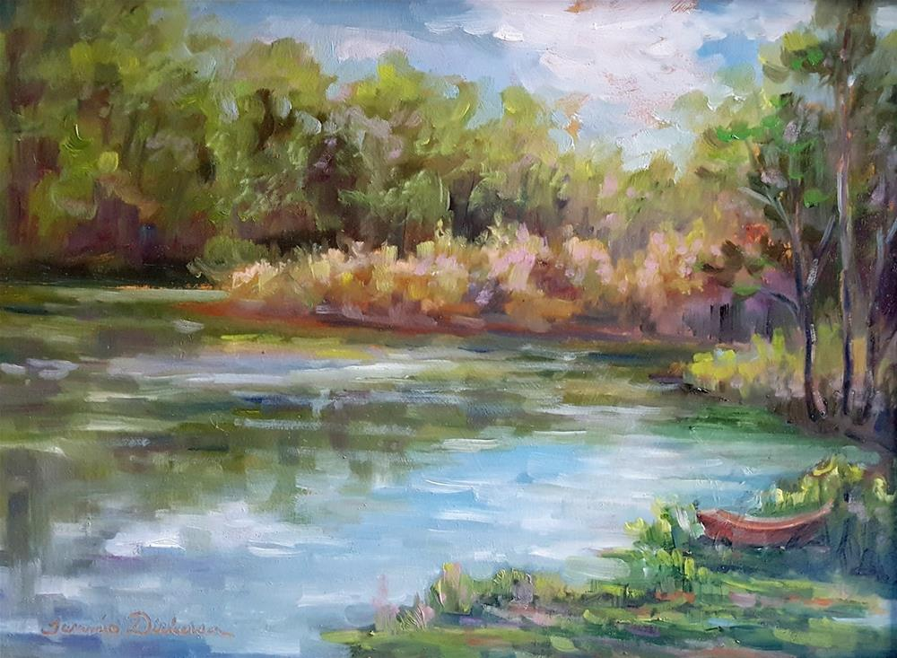 """On the Shore of the Lake"" original fine art by Tammie Dickerson"