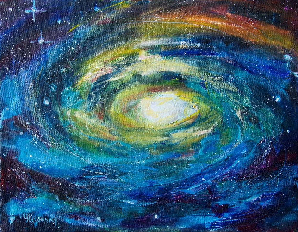 """Galaxy"" original fine art by Yulia Kazansky"