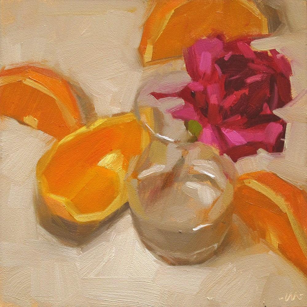 """Four Slice Flower"" original fine art by Carol Marine"