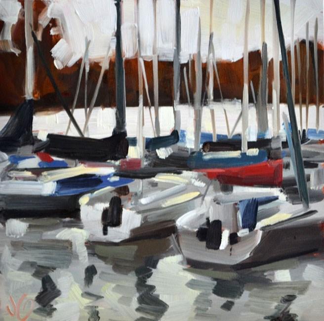 """Marina Lines"" original fine art by Jessica Green"