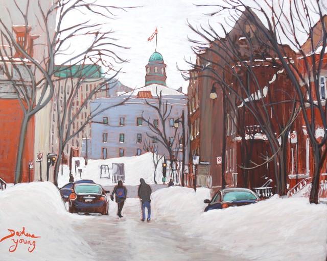 """1186 McGill University, 8x10, egg tempera"" original fine art by Darlene Young"