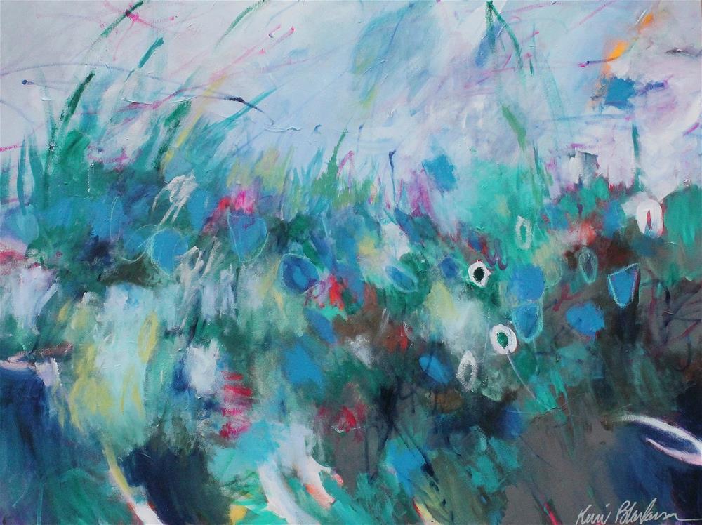 """Blue Wildflowers "" original fine art by Kerri Blackman"