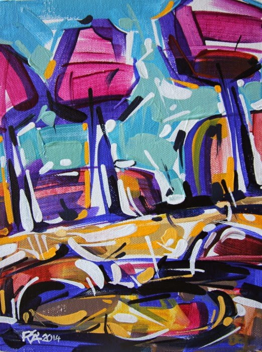 """Landscape Abstraction 1"" original fine art by Roger Akesson"