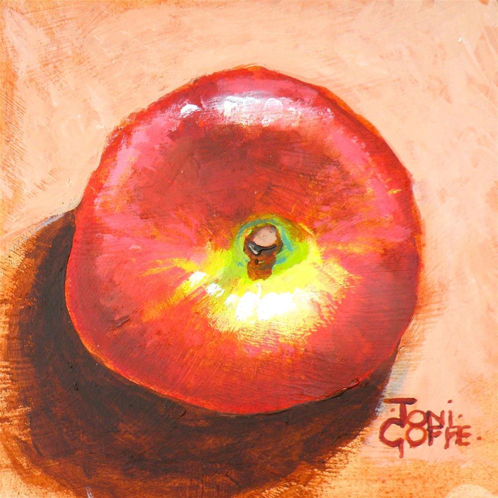 """""""Doughnut Peach"""" original fine art by Toni Goffe"""