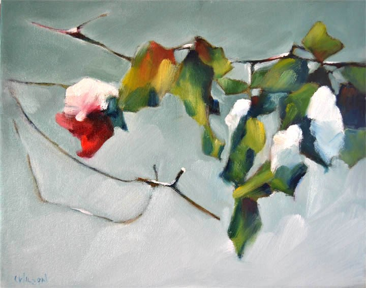"""Snowy Rose"" original fine art by Cheryl Wilson"