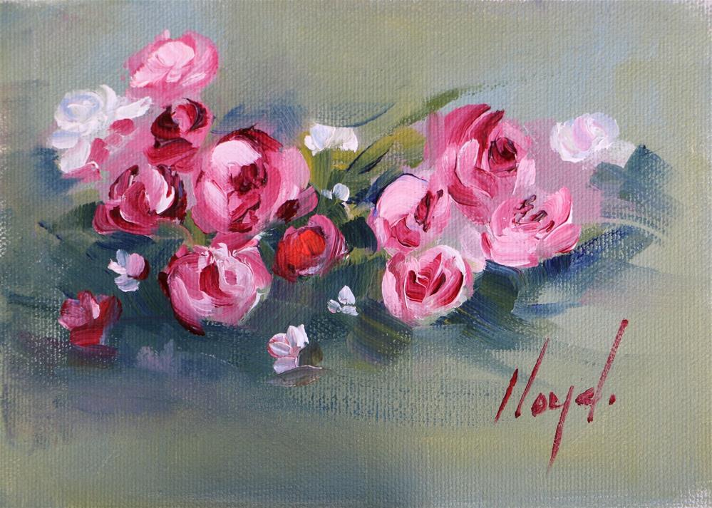 """Little Roses"" original fine art by Diane Lloyd"