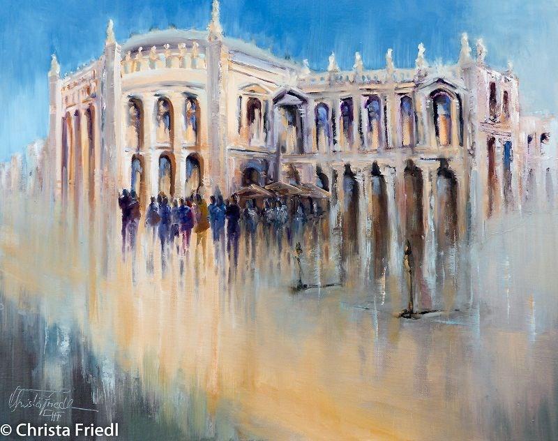 """Vienna Burgtheater"" original fine art by Christa Friedl"