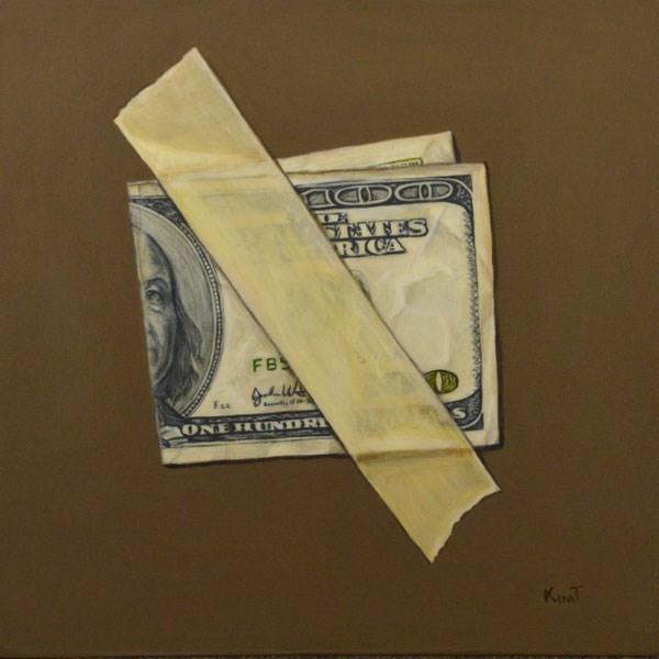 """""""Rainy Day Fund"""" original fine art by Kim Testone"""