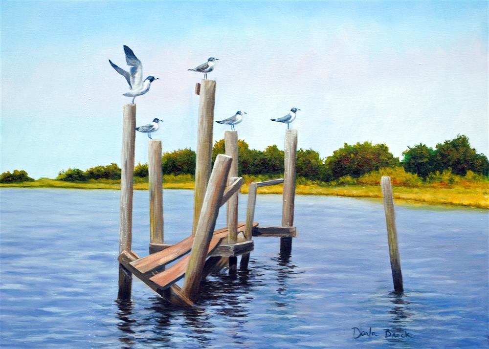 """Tidewatchers"" original fine art by Darla Brock"