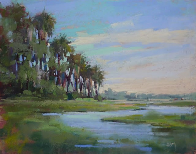 """An Easy Tip for Painting Better Trees"" original fine art by Karen Margulis"