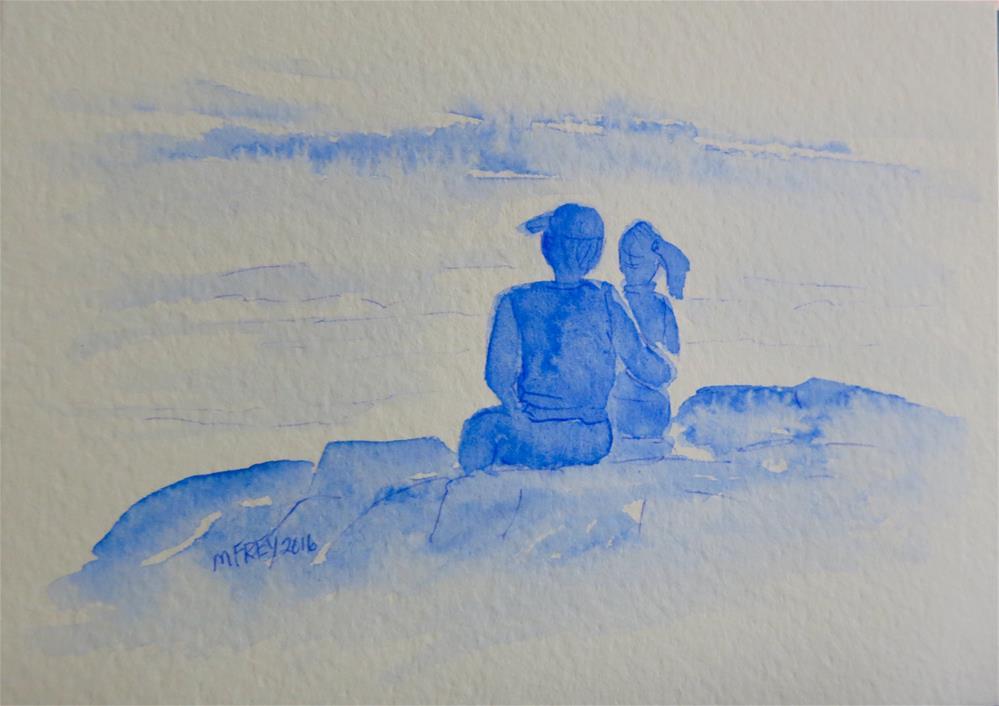 """On The Rocks 094"" original fine art by Michelina Frey"