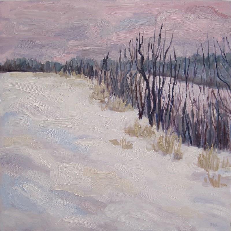 """Winter On The South Saskatchewan"" original fine art by Nicki Ault"