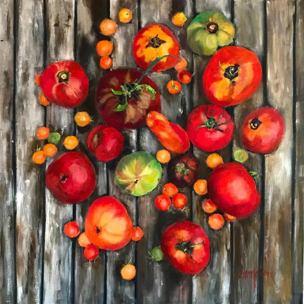 """908 Fruitful Yield"" original fine art by Diane Campion"