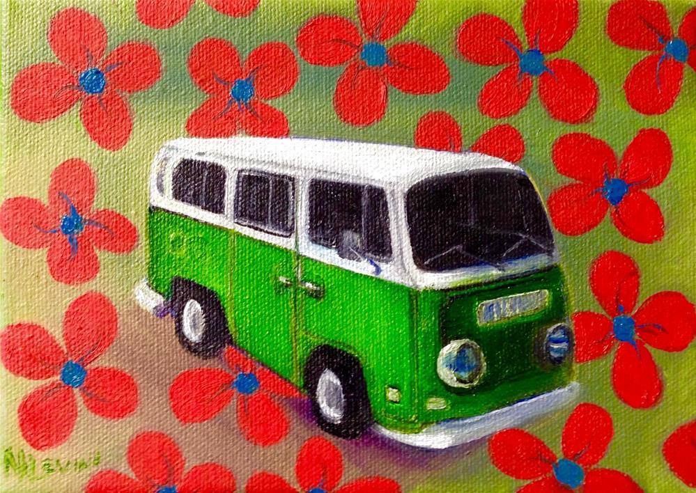 """""""Flower Child"""" original fine art by Nancy Levinson"""